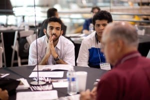 STEM Scholars Mohammed Alqaysi & Khalild El-Hefni at a University Roundtable Discussion.