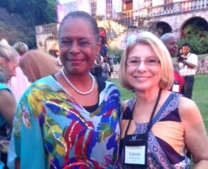 Valerie Freeman and the U.S. Ambassador to Jamaica, Pamela Bridgewater at the International Women's Forum Conference in Jamaica.